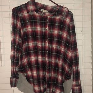 Tops - Red fleece shirt
